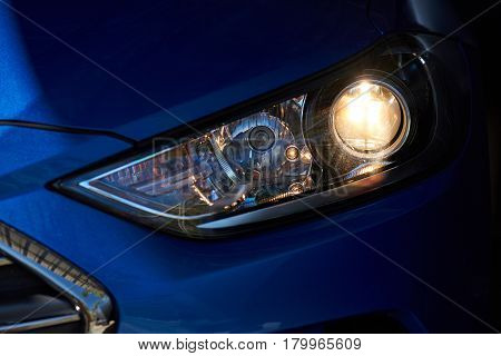 Car Head Light With Led Optic