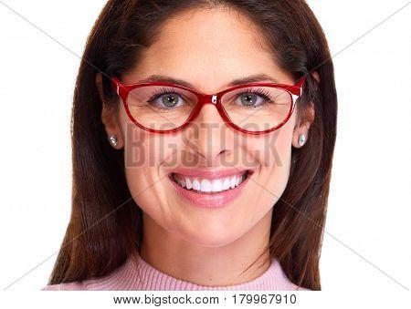 woman portrait with eyeglasses.