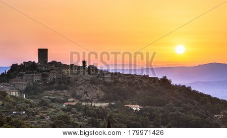 Sunrise Over Tuscan Village
