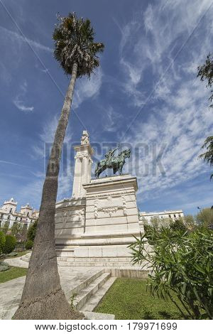 Monument to the Constitution of 1812 panoramic view Cadiz Andalusia Spain