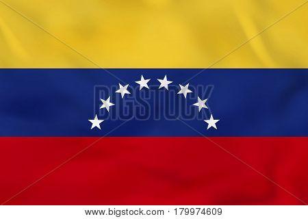 Venezuela Waving Flag. Venezuela National Flag Background Texture.