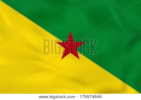 French Guiana Waving Flag. French Guiana National Flag Background Texture.