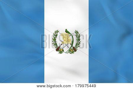 Guatemala Waving Flag. Guatemala National Flag Background Texture.