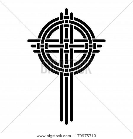 Illustration black cross as a symbol of Christianity on a white background.