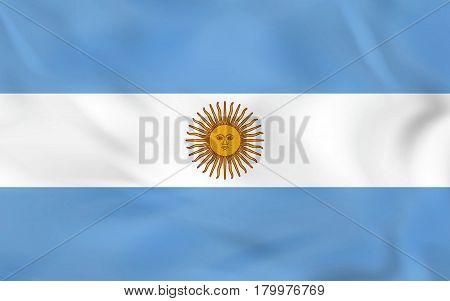 Argentina Waving Flag. Argentina National Flag Background Texture.