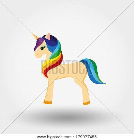 Unicorn. Icon for web and mobile application. Vector illustration on a white background. Flat design style.