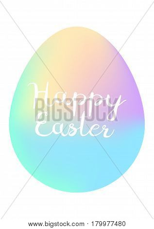 Happy Easter minimalism poster. Vector, isolated esp10