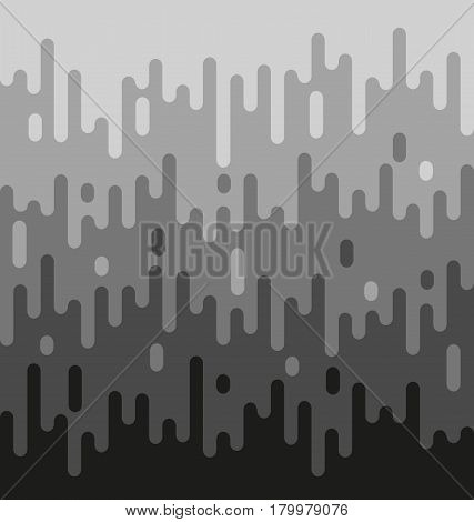 Grey and black melting background abstract vector illustration