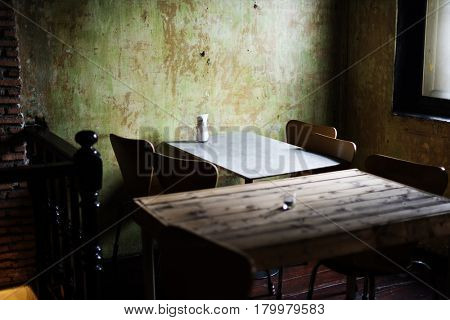 Dining Table Empty Nobody Restaurant Bistro