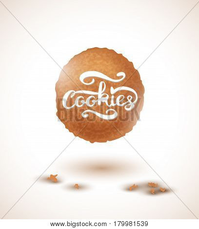 Cookie and Cookies Lettering. Vector Illustration EPS10
