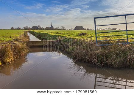 Village In Countryside Netherlands