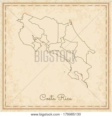 Costa Rica Region Map Vector & Photo (Free Trial) | Bigstock