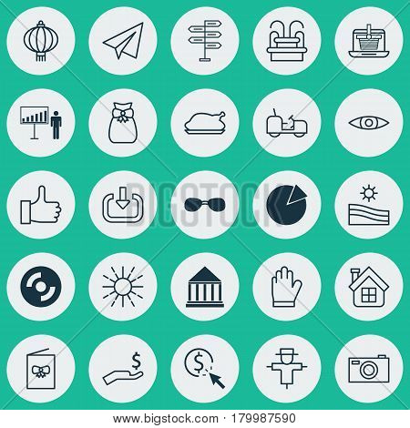 Set Of 25 Universal Editable Icons. Can Be Used For Web, Mobile And App Design. Includes Elements Such As Bugbear, Agrimotor, E-Trade And More.