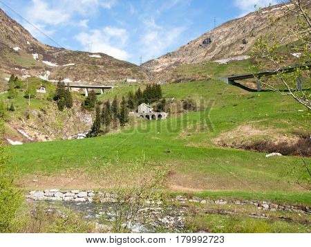 Gotthardpass, Panorama Of The Region
