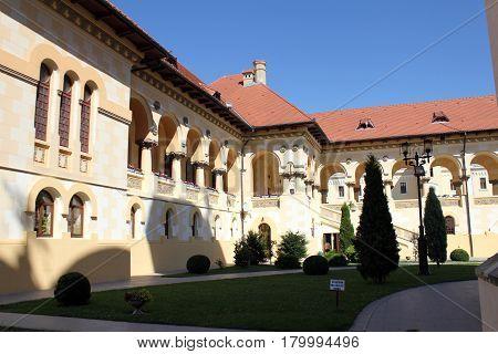 Orthodox Cathedral court in Alba Iulia, Romania.