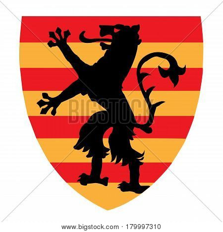Beautiful coat of Arms with griffin; County of Olt