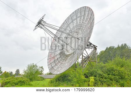 Antenna radio telescope of the Pulkovo Observatory in St. Petersburg.Russia.