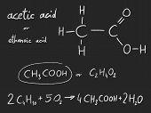Acetic acid (ethanoic acid) - organic chemistry lesson. poster