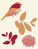 Vector Bird Silhouette Sticker poster