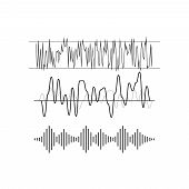Music beat. Abstract equalizer. Sound Wave vector poster