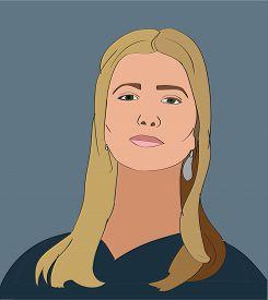 14 Mar 2017: Ivanka Trump Vector Portrait