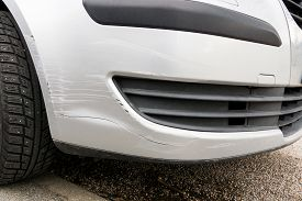 Car With Damaged Paint, Parking Accident