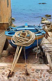 The south Italy area Calabria. boat in Scilla city