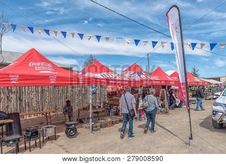 Williston, South Africa, August 31, 2018: Stalls At The Yearly Winter Festival In Williston In The N