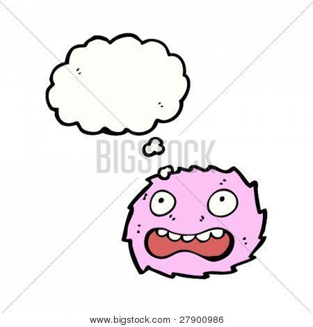 frightened furry little creature cartoon