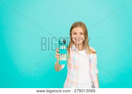 Water Balance Concept. Healthy And Hydrated. Pediatric Disorders Of Water Balance. Girl Cares About