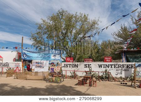 Williston, South Africa, August 31, 2018: A Street Scene At The Yearly Winter Festival In Williston