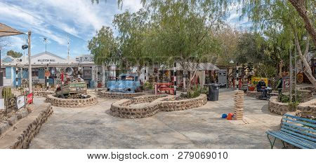 Williston, South Africa, August 31, 2018: A Panoramic View Of The Williston Mall, In Williston In Th