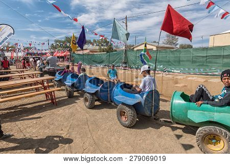 Williston, South Africa, August 31, 2018: A Scene At The Yearly Winter Festival In Williston In The
