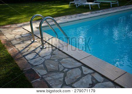 Swimming pool in residence garden