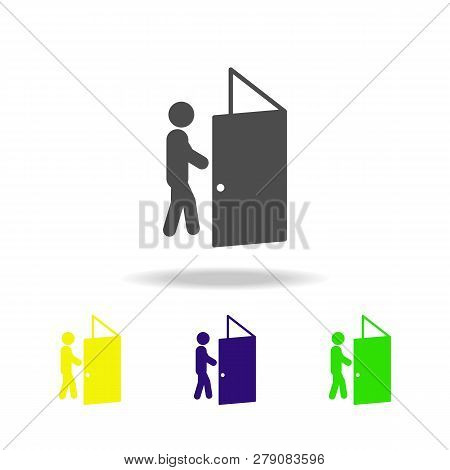 The Difficulty Is Overcome Colored Icons. Element Of Overcome Challenge Illustration. Signs And Symb