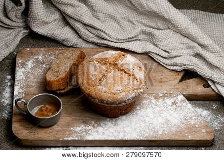Loaf of rustic homemade bread