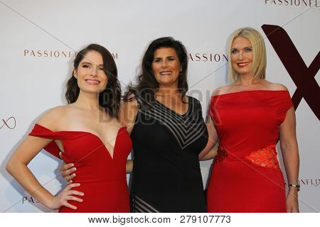 Olivia Applegate, Kristy Bromberg, and Tosca Musk, attend the