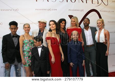 The cast and author of