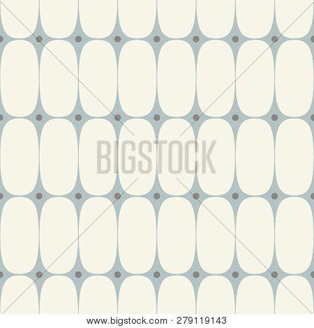 1950s Mid Century Modern Vintage Retro Atomic Seamless Background Pattern. Fully Editable Vector Ill