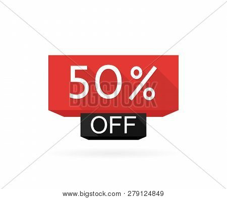 Special Offer Sale. Discount Offer Price Label 50 Off, Symbol For Advertising Campaign In Retail, Sa