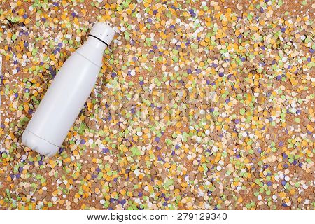 Background Of Confetti With Elements Related To The Carnival And Summer