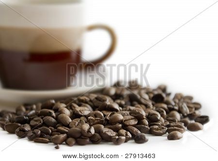 Close-up of coffee beans i
