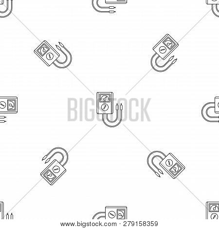Voltage Device Tool Icon. Outline Illustration Of Voltage Device Tool Vector Icon For Web Design Iso