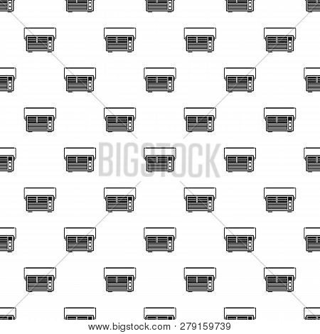 Analog Radio Pattern Seamless Vector Repeat Geometric For Any Web Design