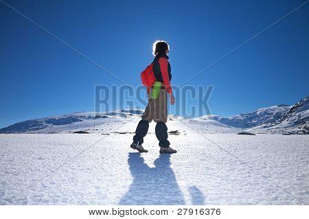 Side Hiking Woman