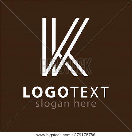 Kk Letter Line Logo Element Vector Template. Vector Stock