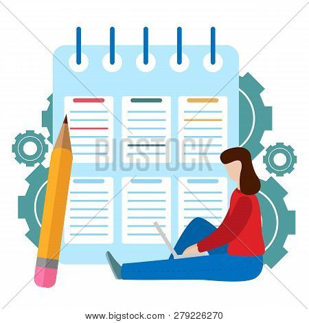 Successful Completion Of Business Tasks. Checklist Clipboard. Questionnaire, Survey, Task List.