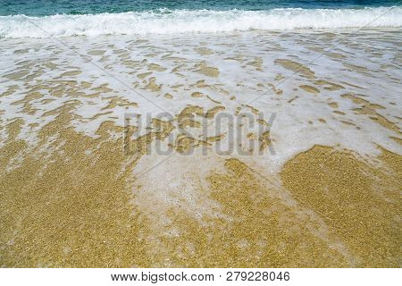 Ocean Wave And Foam For Backgrounds In Summer