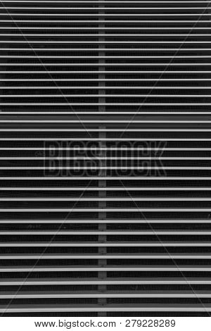 Close Up Of A Metal Window Shutter For Backgrounds