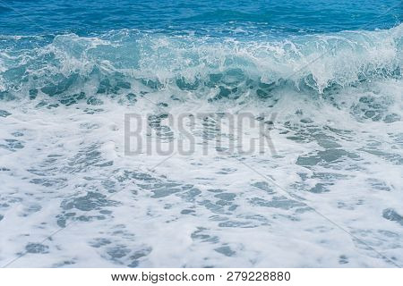 Close Up Of An Ocean Wave For Backgrounds